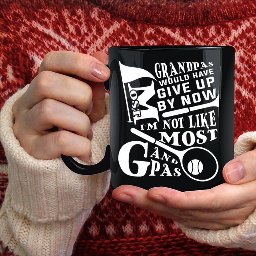 Most Grandpas Would Have Give Up By Now Coffee Mug, Badminton Coffee Cup