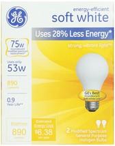 GE 63004, 53-Watt Energy Efficient Halogen Bulbs, Soft White, 2-pk, 120-Volt - $6.41