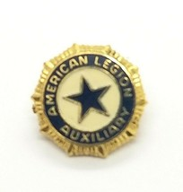 VTG Collectible Lapel Hat Pin- American Legion Auxiliary Gold Tone Ename... - $7.72