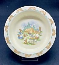 Vintage Royal Doulton Bunnykins Camping Made In England Porridge Bowl  - $29.02