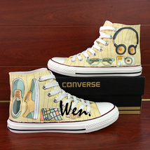 Unisex Converse All Star Shoes Hand Painted Popular Accessories Canvas S... - $155.00