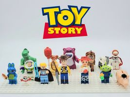 Toy Story 3 and 4 Woody Bo Peep Bunny Bullseye Lotso 13pcs Custom Minifigures - $28.99