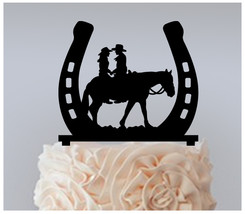 Wedding,Birthday Cake topper,Cupcake topper,couple-of-cowboys and horses 11 pcs - $20.00