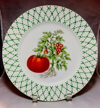 """""""The Vegetables""""rare replacement /decorative Tomato 10 1/4"""" dinner plate... - $14.84"""