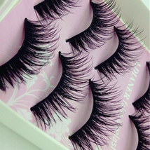 5-Pair-Beauty-Wispies-Natural-Long-Thick-Soft-Fake-False-Eyelashes-Handm... - $4.72