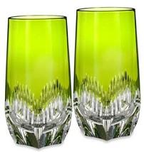 Waterford Mixology Neon Lime Green Hiball SET/2 Highball Glasses 162827 New - $194.90