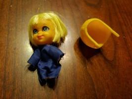 Vintage 1960's Mattel Liddle Kiddles Japan Windy Wendy Fliddle Pilot W/JUMP Suit - $28.40