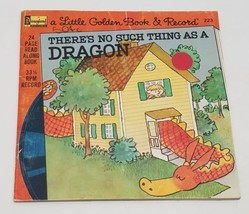 Vtg Disneyland Little Golden Book & Record There's No Such Thing as a Dr... - $33.85