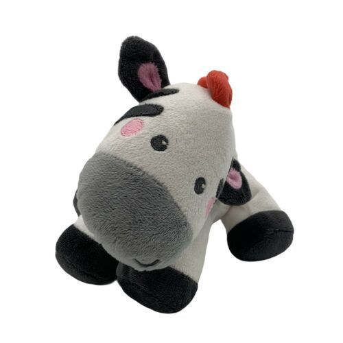 Primary image for Fisher Price Zebra Horse Plush Rattle Baby Toy Crinkle White Black Red Lovey