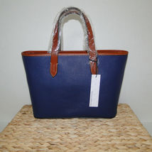 Dooney & Bourke Pebble Leather Brandy Satchel OCEAN BLUE image 3