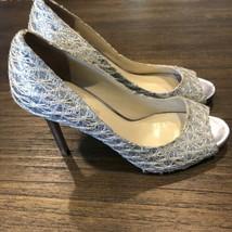 enzo angiolini silver glitter heels 7.5 Retail $98 - $44.55