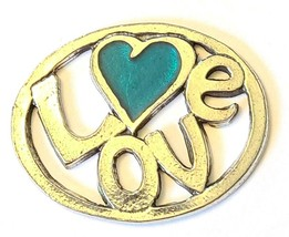 LOVE Fine Pewter Pendant Approx. 1-1/2 inches wide image 2