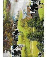 New David Textiles Cows at the River Scenic 100% Cotton Fabric by the Yard - $9.90