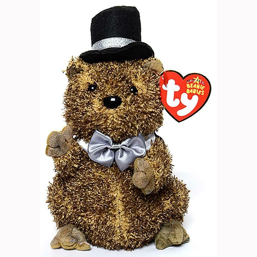 Punxsutawn-e Phil 2006 Groundhog Retired Ty Beanie Baby MWMT Collectible