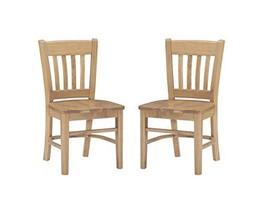 Linon Natural Side Set of 2 Darlin Kids Chair - $175.41
