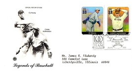 July 6, 2000 First Day of Issue, Postal Society Cover Baseball, Young, M... - $0.99