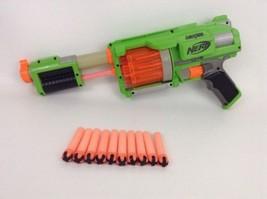 Hasbro Nerf Fury Fire Pump-Action Revolver (Green Team) Gun Dart Tag w/ ... - £38.71 GBP