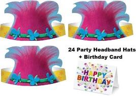 TROLLS POPPY Party Party Birthday Hats HeadBands Hair Pink Favors Birthd... - $19.75