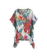 Women's Tunic Top - Lacey Floral Blooms Poncho - Large - $59.99