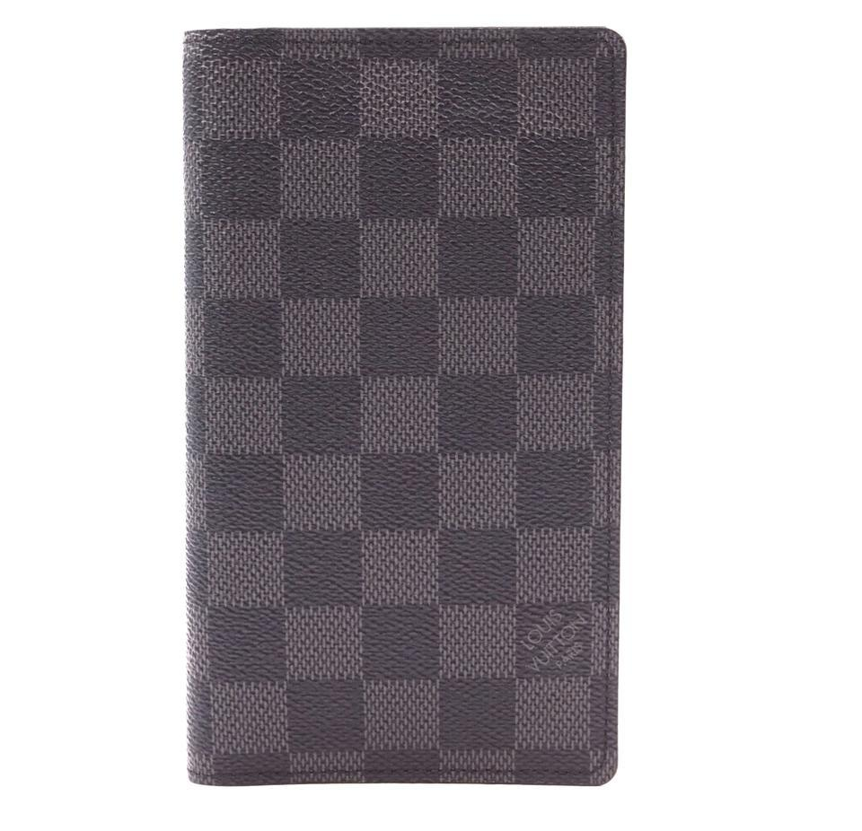 Primary image for #33192 Louis Vuitton Graphite Long Damier Bifold Card Bill Holder Wallet