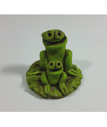 Vintage Green Ceramic Frogs on Lily pad with Single Hole in Back  Incens... - $12.95