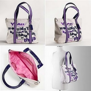 "COACH POPPY ""WOULDN'T BELIEVE"" GLAM TOTE NWT 14980 image 2"