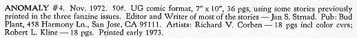 Anomaly #4, 1972 Bud Plant, underground comix, Richard Corben,