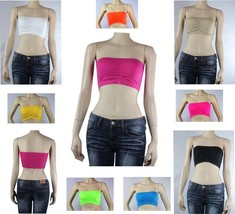 9 Colors Strapless Tube BANDEAU Sports BRA Padded,Casual Layering TOP On... - $4.99