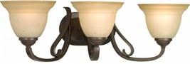 Bathroom Vanity Lighting 25 in. W 3-Light Down-Up Direction Forged Bronze - $118.15