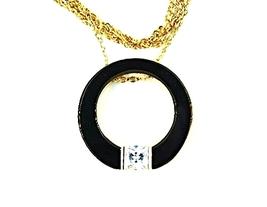QP45 Circle of Life Gold Energy Quantum Pendant Crystal - Orange - $34.95