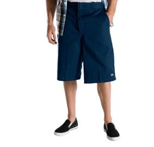 "NEW Dickies 42283 Mens 13"" Multi-Use Pocket Work Shorts Navy Blue Size 3... - $13.88"