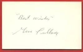"VINTAGE  AUTOGRAPH  OF   GENE  FULLMER   ON  ""3 X 5""  INDEX CARD   NO  C... - $24.99"