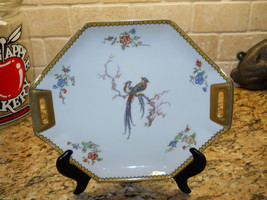 "Haviland China France Eden 11"" Tab Handled CAKE PLATE - $110.83"