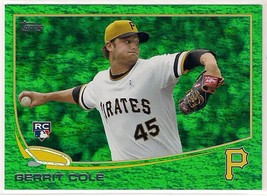 2013 Topps Update Emerald Green Sparkle Gerrit Cole Rookie - $2.49