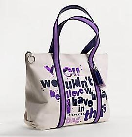 "COACH POPPY ""WOULDN'T BELIEVE"" GLAM TOTE NWT 14980"
