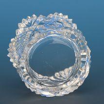 Antique Cut Glass Open Salt Diamond Star Fan image 3