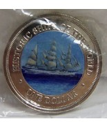 COOK ISLANDS SSS GORCH FOCK SHIP LIMITED COLOR COIN UNC  - $34.99