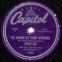 """Capitol 78 #15009 - Peggy Lee - """"I'll Dance At Your Wedding"""" & """"Golden E... - $7.87"""