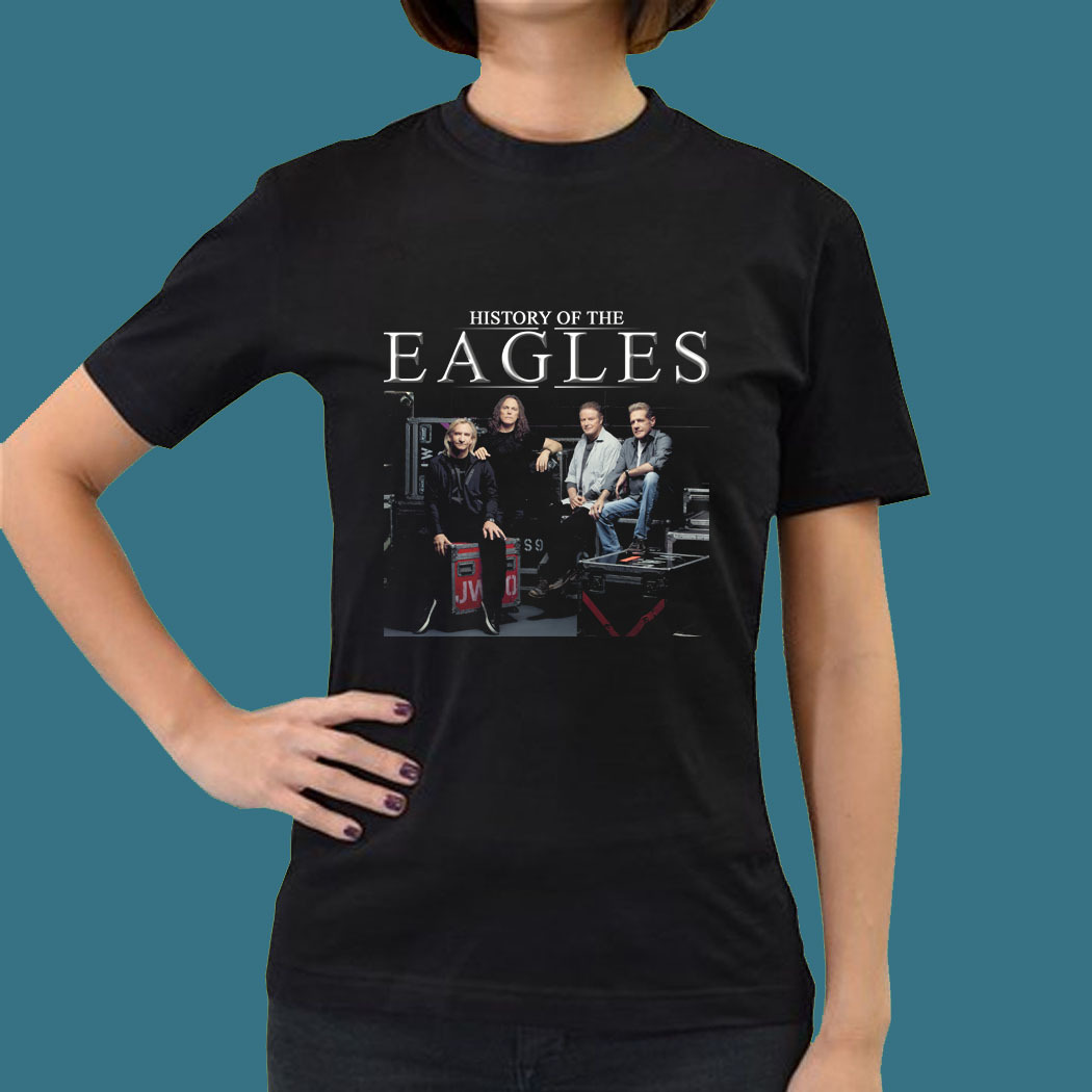 History of the eagles live in concert gn09 women tee t for Eagles t shirt womens