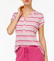 New Medium Pajama Top CHARTER CLUB RapiDry Short Sleeve V-neck Sleep Tee... - $7.79