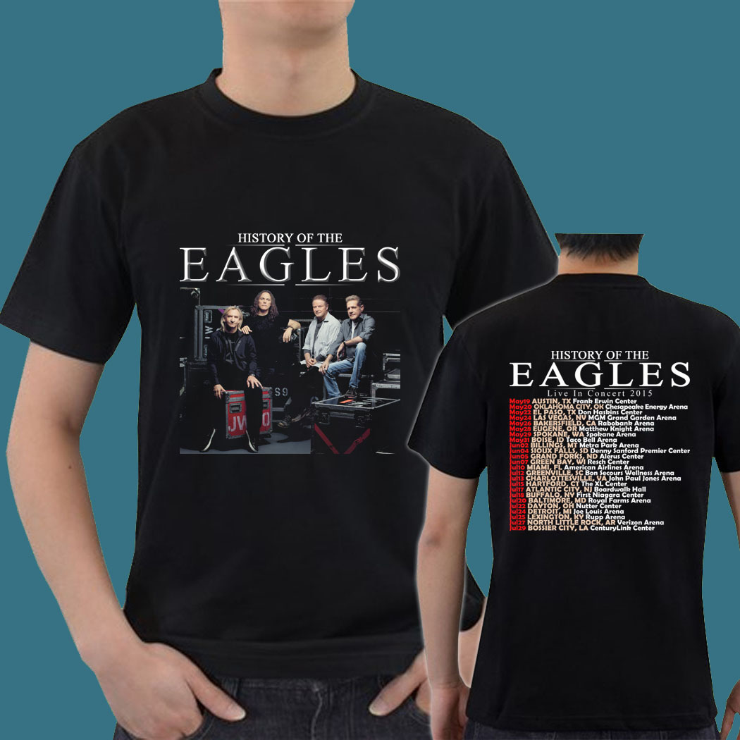 History of the eagles band tour date 2015 gn09 mens tee t for Xxl band t shirts