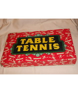 TABLE TENNIS VINTAGE WITH PINGPONG BALLS MADE IN ENGLAND MILTON BRADLEY ... - $9.99
