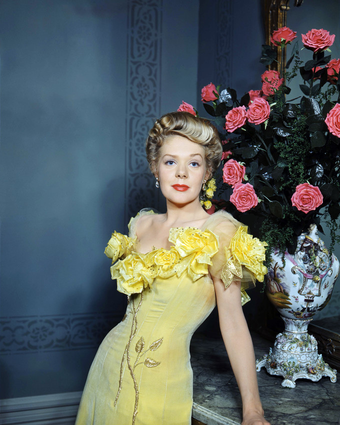 Primary image for Alice Faye Beautiful Pose in Yellow Dress by Flowers 16x20 Canvas