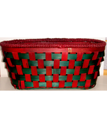 Oval Woven Wood - Red & Green Basket - $6.00