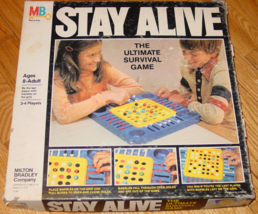 Stay Alive Game 1978 Ultimate Marble Survival Game Milton Bradley Complete Made  - $30.00