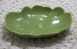 Vintage Cemar Green Flower Bowl California Pottery - $14.00