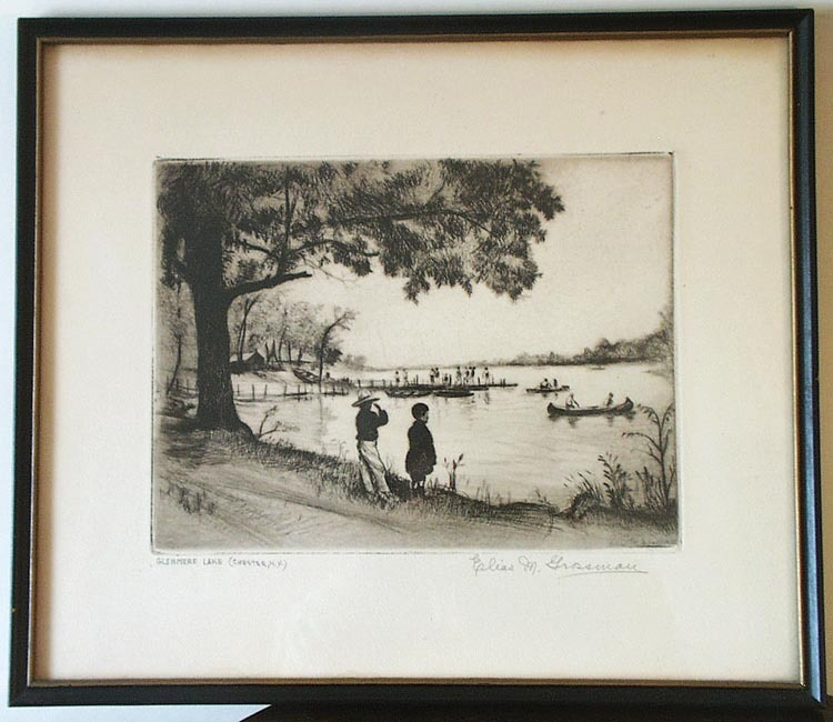 ELIAS M. GROSSMAN ETCHING LAKE GLENMERE CHESTER,N.Y.'41
