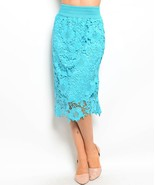 Chic Crochet Lace Lined Jr Skirt, Cocktail Club... - $24.99
