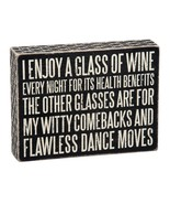 Enjoy Wine for Health Benefit Witty Comebacks Sign Primitives by Kathy 8... - $20.95