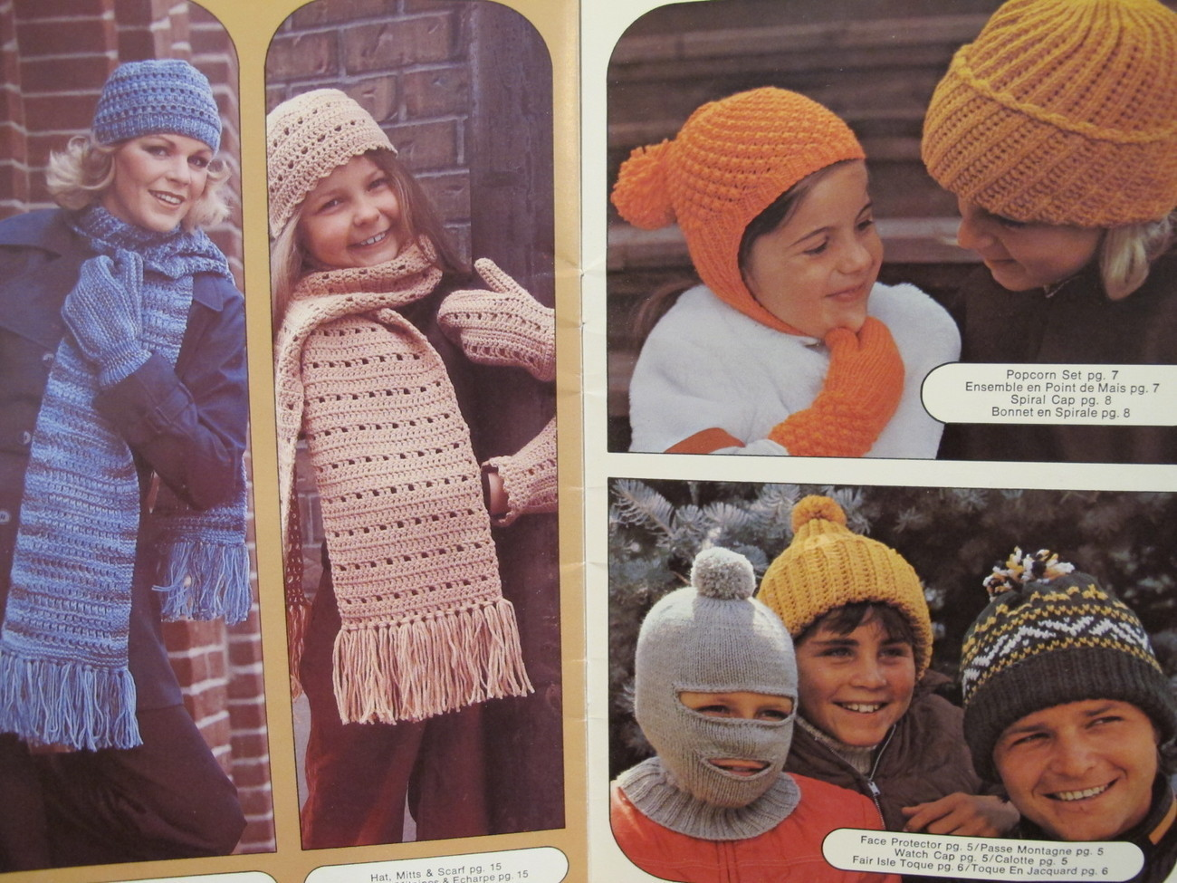 Vintage Patons Knitting Crochet Crocheting Patterns Hats Scarf Toques etc FAMILY